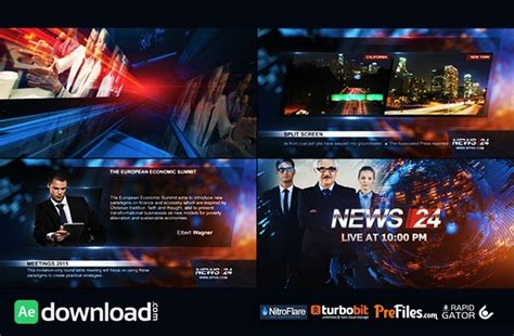 Broadcast Design News 24 Package Videohive Free Download Free After Effects Template Broadcast After Effects Template