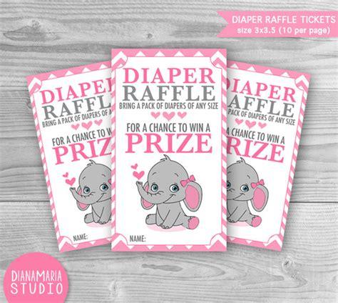 free printable diaper raffle tickets elephant diaper raffle elephant tickets baby shower games printable