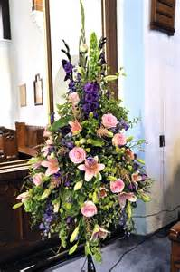 Glass Pedestal Vase Church Or Chapel Wedding Flowers A Way With Flowers