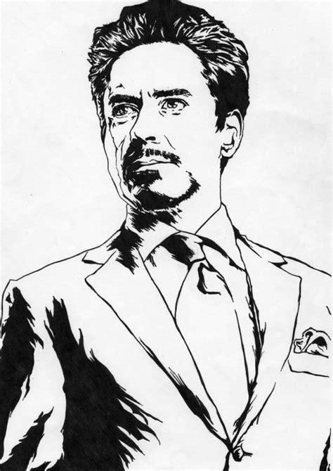 tony stark iron man robert downey jr by