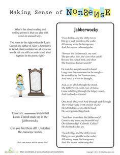 gratis libro e jabberwocky and other nonsense collected poems penguin clothbound classics para descargar ahora 6th grade common core reading literature worksheets englishlinx com board
