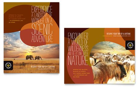 templates for posters in publisher african safari poster template word publisher
