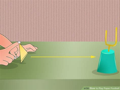 How To Make A Paper Football Field Goal - how to play paper football 9 steps with pictures wikihow