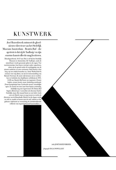 type layout design harpers bazaar nederland art direction by tara van