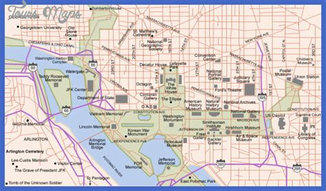 washington dc tourist map pdf washington map tourist attractions toursmaps