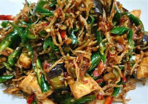 resep teri medan  tofu  terong biru sambal cabe ijo