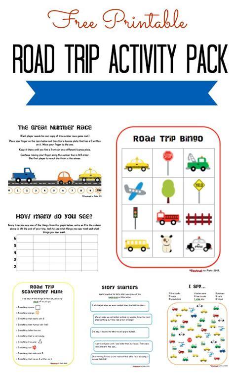 fun road trip games printable free printable road trip activity pack
