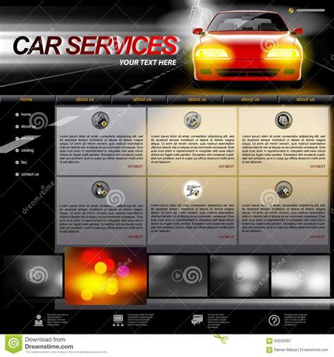 Automobile Service Website Template Stock Vector Image 60628302 Car Service Website Template
