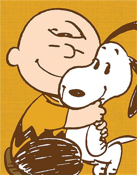 a brown peanuts snoopy brown big hugs kisses