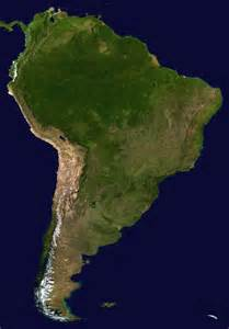 america satellite map large detailed satellite map of south america south