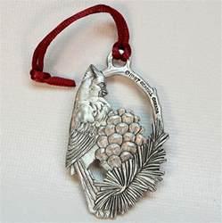 seagull pewter cardinal christmas ornament canada 1997