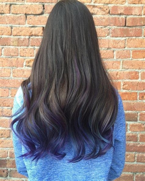 brownish blavk hair with a coiple of blue braids for 10year olds 40 fairy like blue ombre hairstyles