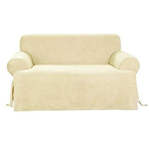 buy sofa covers online buy sure fit soft suede t cushion sofa slipcover cream