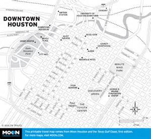map of downtown houston slang and twang how to talk like a texan moon