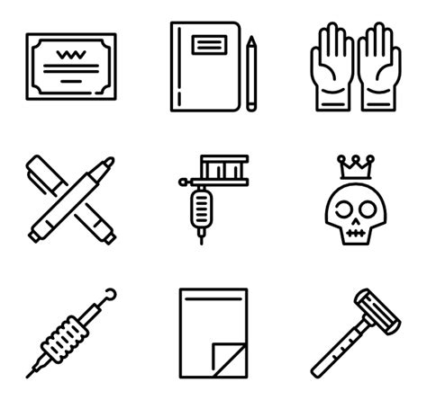 tattoo icons package icons 3 262 free vector icons