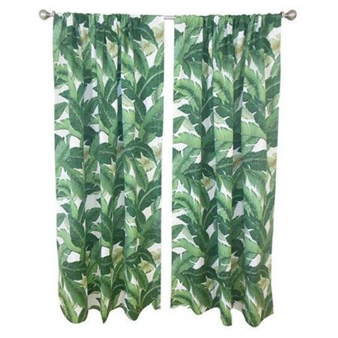 palm leaf curtains master suite cotton curtains and curtains on pinterest
