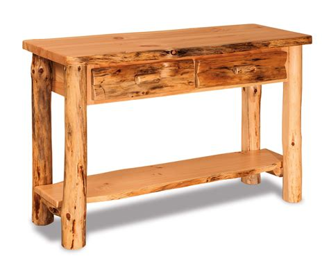 pine sofa table with drawers rustic pine sofa table with drawer everything amish