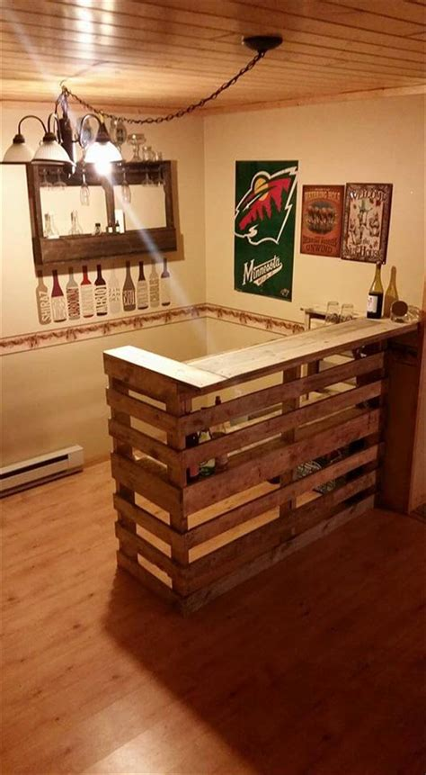 Building Kitchen Island by Diy Pallet Bar