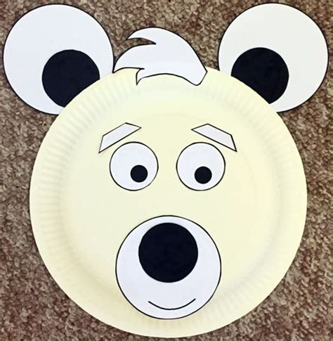 Polar Paper Plate Craft - paper plate polar craft
