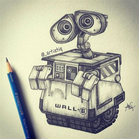 Wall E Sketches by Wall E Drawing Simple Www Imgkid The Image Kid Has It