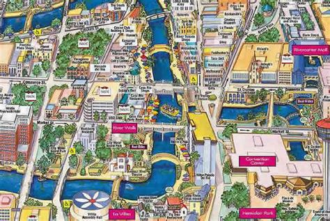 map of downtown san antonio texas san antonio riverwalk map alamo plaza map