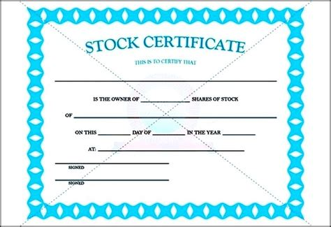 stock certificate template pdf sle sle templates