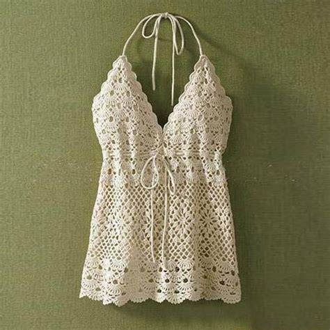 Crochet Lace Camisole Top crochet halter top summer camisole lace