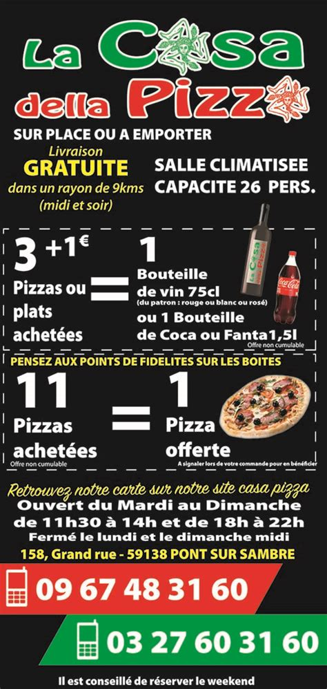 la casa della pizza carte 224 emporter casa della pizza 042017