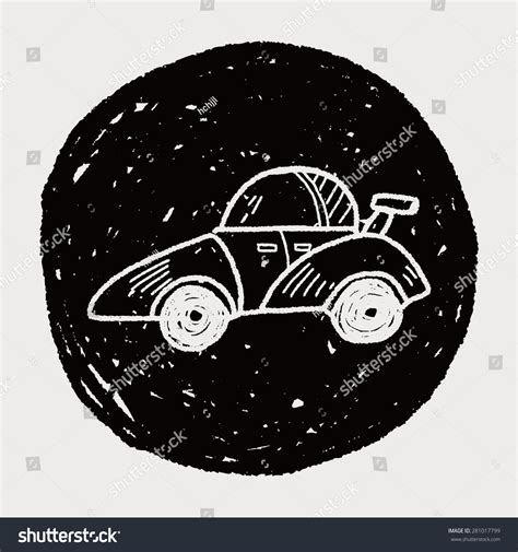 doodle car race car doodle stock illustration 281017799