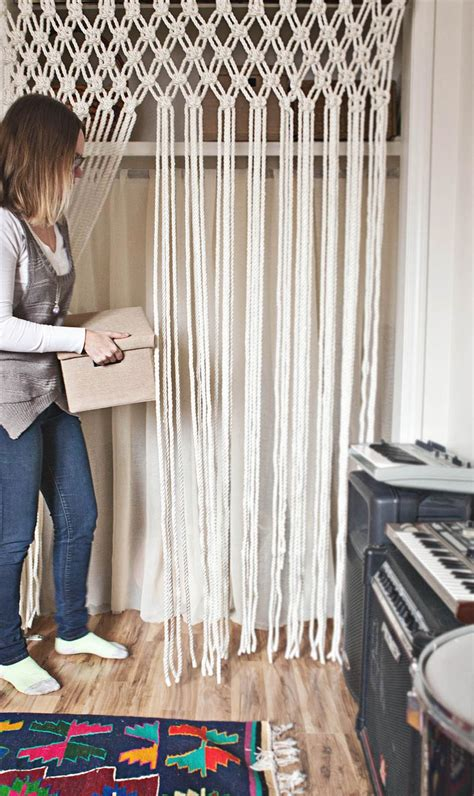 Kids Bathroom Decor - make your own macrame curtain a beautiful mess
