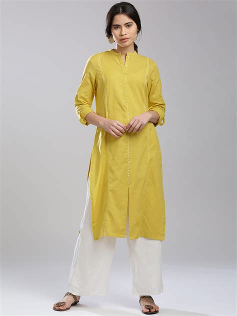 yellow kurti pattern w yellow plain cotton kurti g3 wku1386 g3fashion com