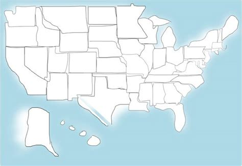 Drawing 50 States by Quiz How Well Can You Draw The Outlines Of All 50