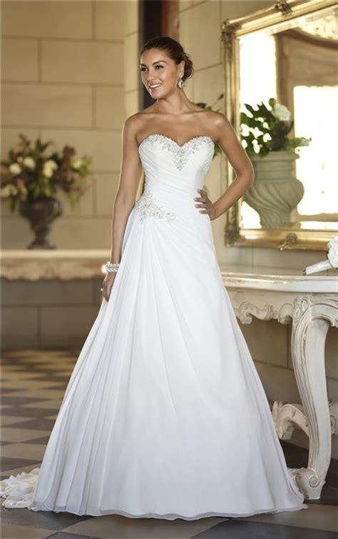 hochzeitskleid corsage a line sweetheart corset back chiffon beaded wedding dress