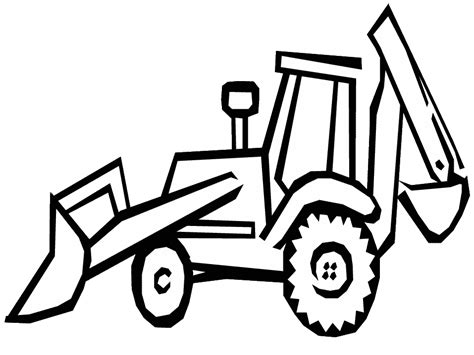 coloring page of tractor and snow plow trator para colorir trator para colorir