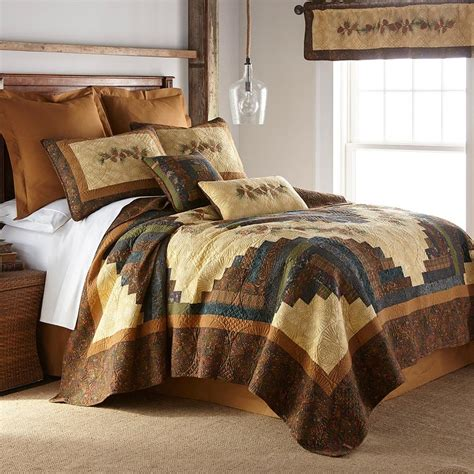 barn raising pine cone quilt collection