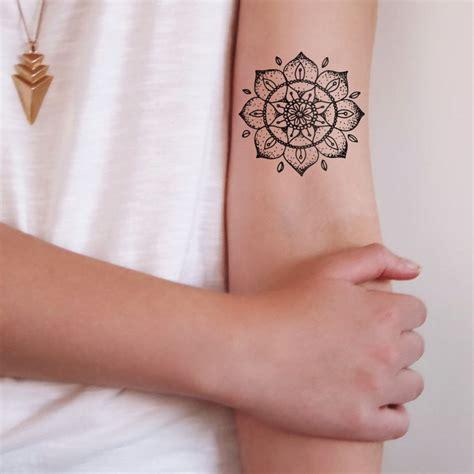 mandala temporary tattoo mandala temporary mandala and