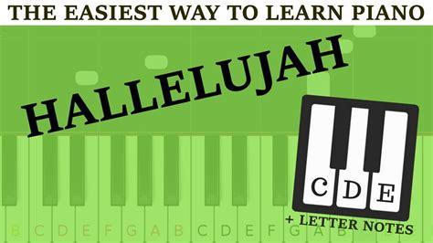 Hallelujah Piano Letters