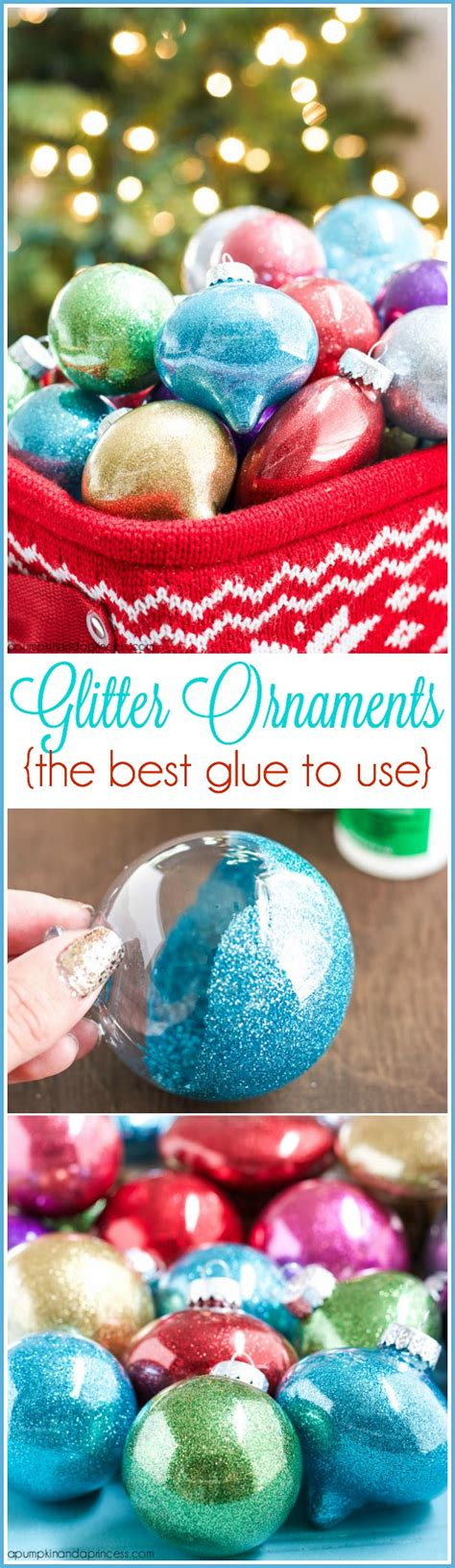 diy ornaments glitter diy glitter ornaments best glue to use a pumpkin and a