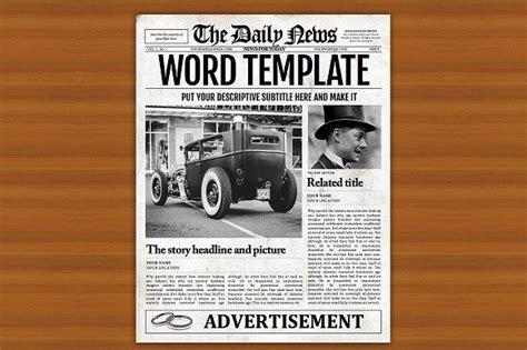 Word Vorlage Zeitungslayout 12 besten fashioned newspaper template bilder auf