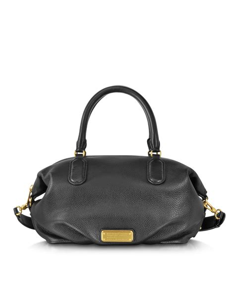 Marc By Marc Aline Leather Handbag by Lyst Marc By Marc New Q Legend Black Leather
