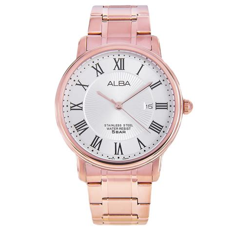 alba gold stainless steel mens as9738x1 as9738x
