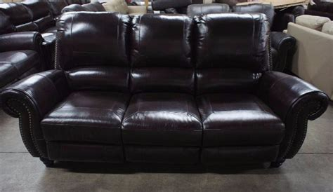 high end leather sofa brands high end broderick collection manual reclining leather