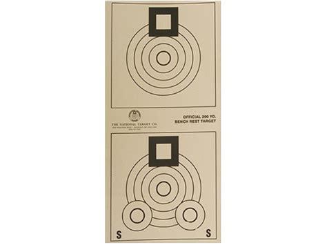 bench rest targets national target international bench rest shooters target