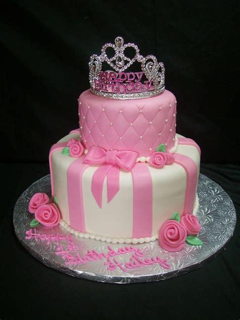 pink princess themed birthday cake ideas   girl birthday party top tier chocolate