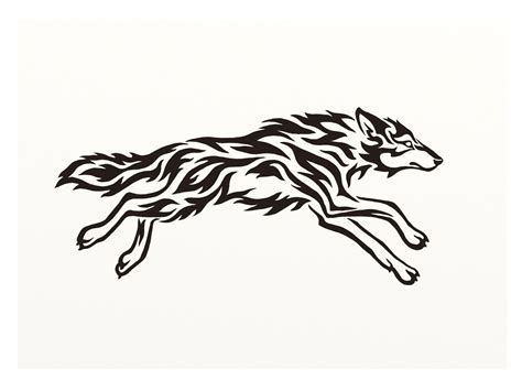 wolf silhouette tattoo running wolf silhouette search design ideas
