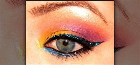 how to apply colorful tropical 80 s eyes with makeup 171 makeup
