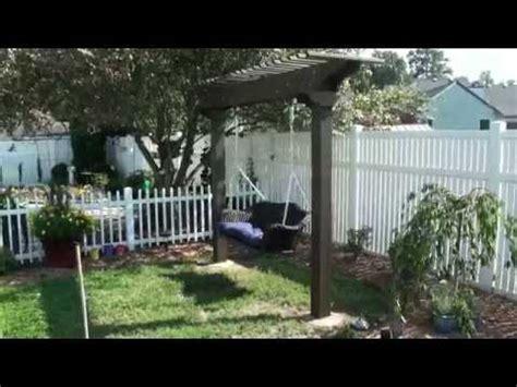 pergola arbor garden swing wicker wood youtube