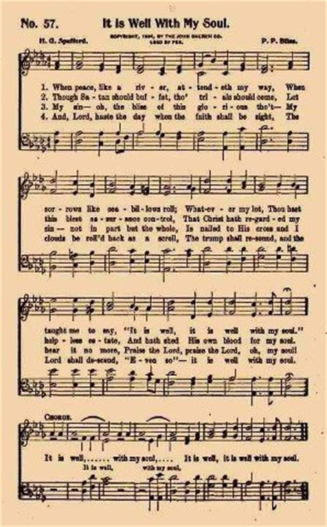 printable lyrics it is well with my soul 104 best images about christian hymns vintage on