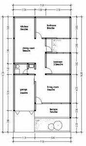 home design 8x16 small house plan wide 8m