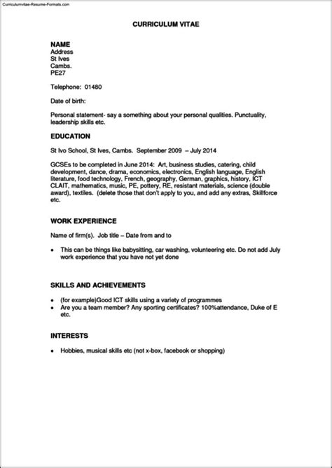 Work History Resume by Work History Resume Template Free Sles Exles